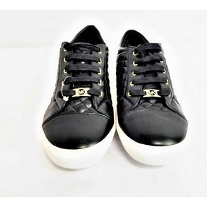Michael Kors Black Seila Quilted Sneakers - Size 5